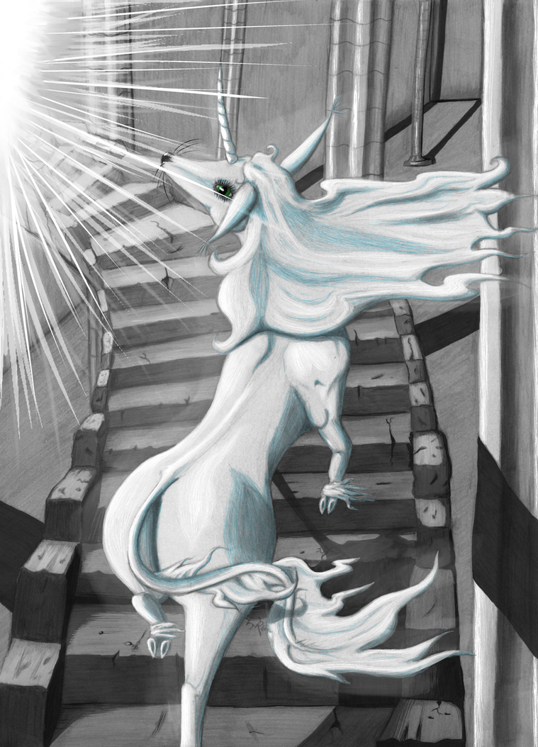 Stairway to Heaven - colored by LadyMonoceros