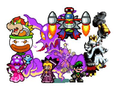 SMRPG Antagonists by Tailikku1