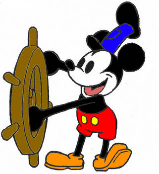 Steamboat Willie IN COLOR by Tailikku1