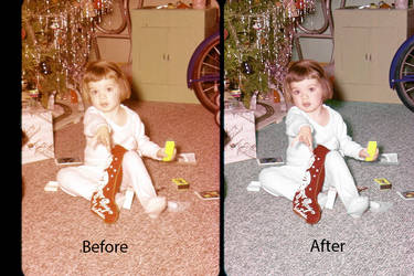 Practicing my photoshop restoration by Ember-lacewing