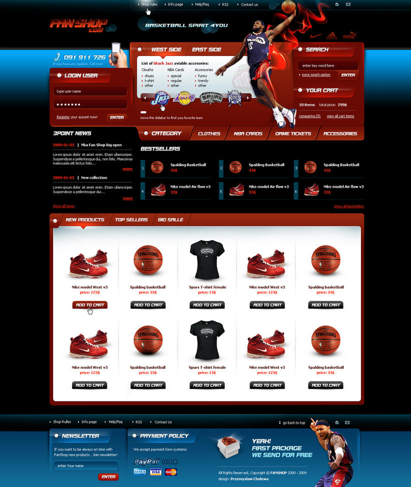 NBA FAN SHOP - For sale by pcholewa