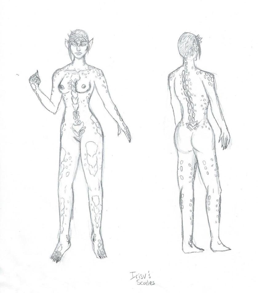 Irisv's Scales Details by PoldalleLovesnare
