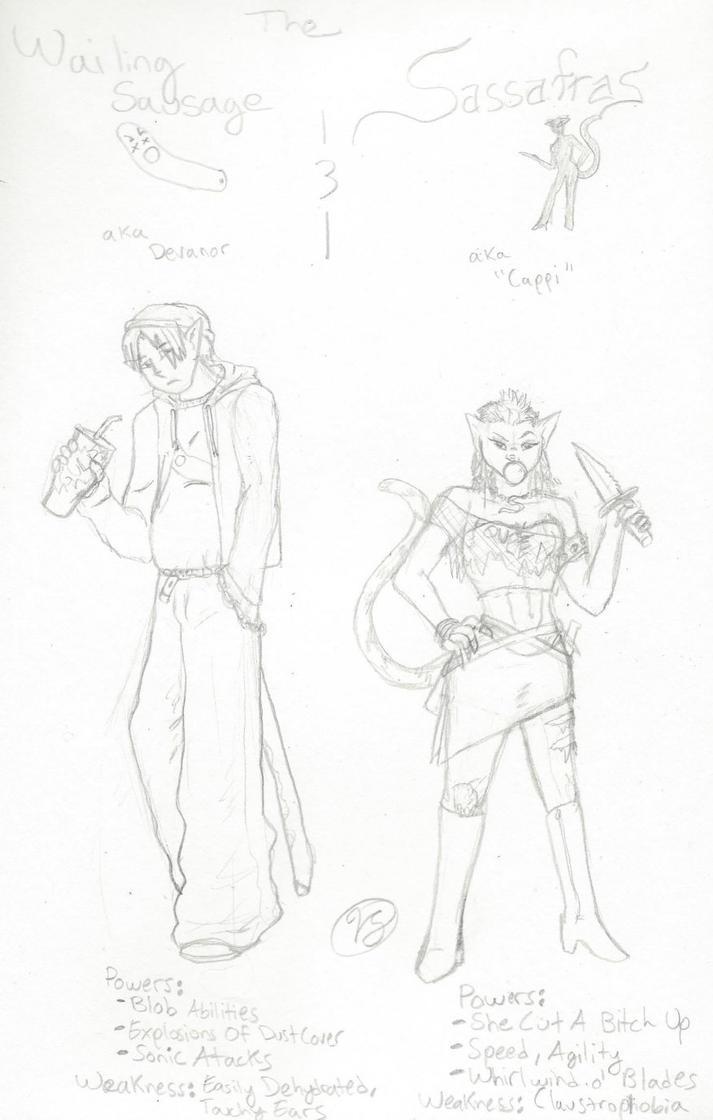 Cartoon Cat Heroes by PoldalleLovesnare