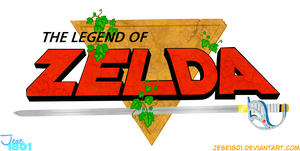 The Legend Of Zelda-Logo Render by Jese1801