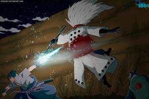 Naruto Manga 674 Sasuke attack by Jese1801