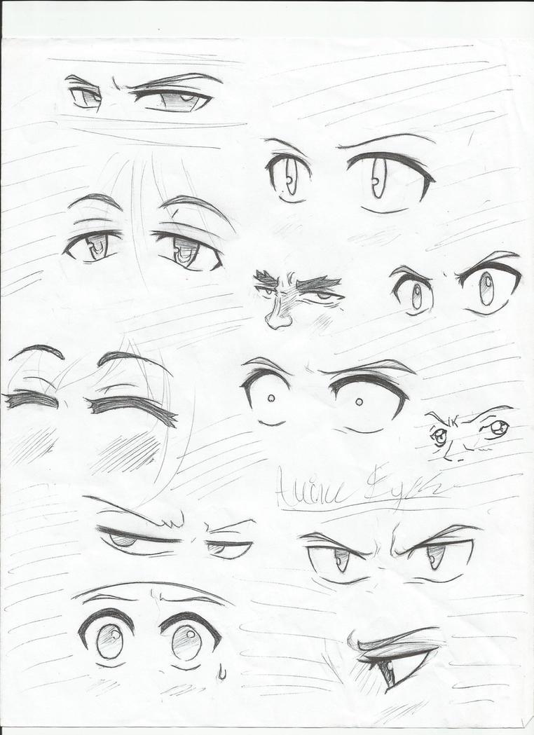 Anime Eyes 2 by ElementKyo on DeviantArt