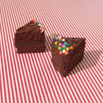 Chocolate Sprinkle Cake Slice Charms