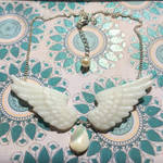 Feathered Flight of Light Necklace