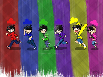 Matsuno Brothers Wallpaper  by GenerallyAbby