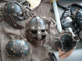 Nordic Leather Helmet by Astanael