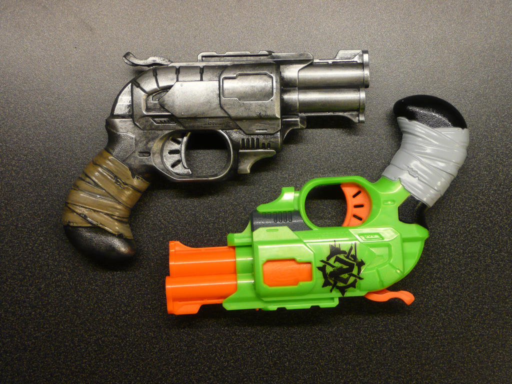 nerf_zombie_pistol___simple_paint_job_by