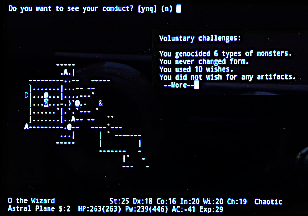 Nethack Endgame 22 by Astanael