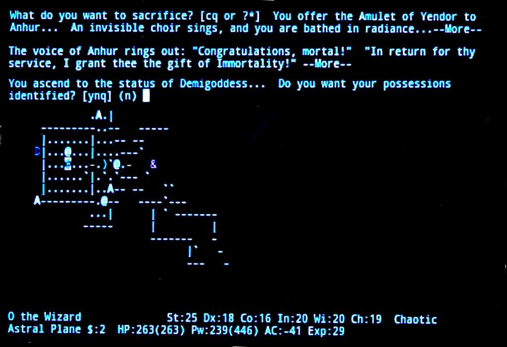 Nethack Endgame 18 by Astanael