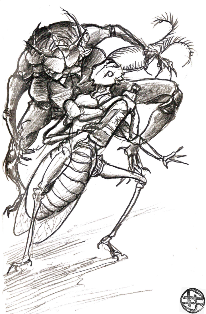 Insectoid wine thief by Astanael