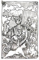 Bast, Goddess of all Cats by Astanael