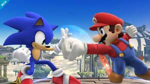 Super Smash Bros Wii U 3DS Sonic Screenshot 2 by ZerkerXror