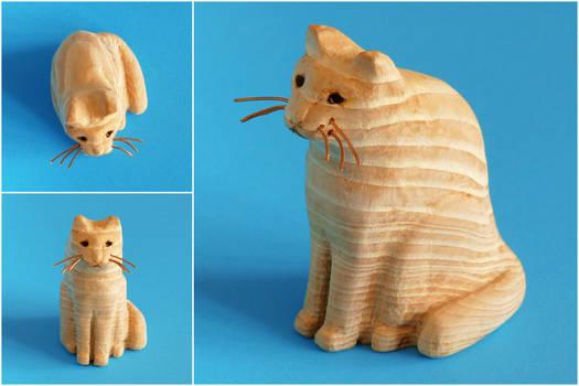 Little cat statue