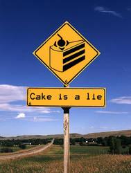 Cake is a lie by Chrisordie