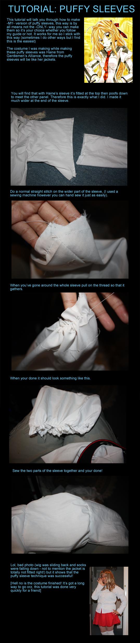 Tutorial: Puffy sleeves