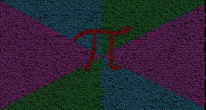 Digits of Pi, Pixel By Pixel by iliekgiantponies on DeviantArt