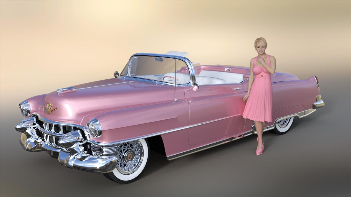 1953 Cadillac Eldorado - pink by Tom2099 on DeviantArt