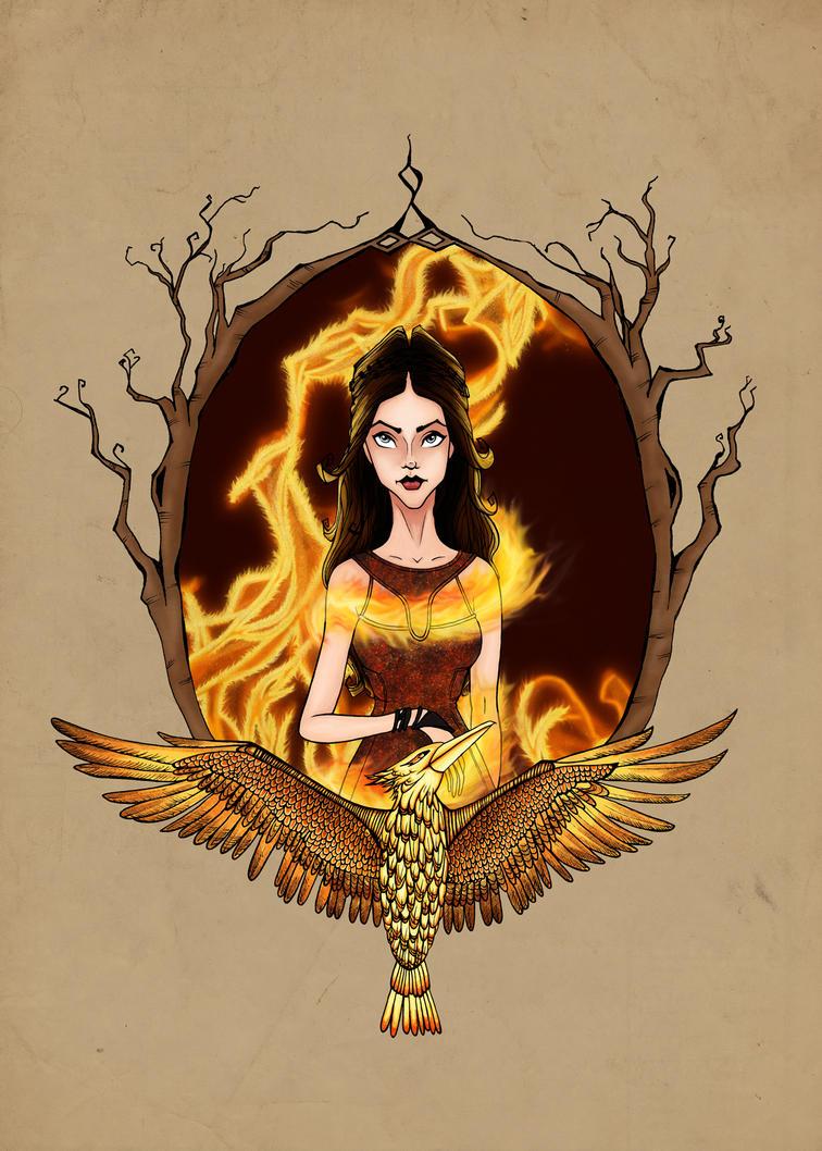 Katniss Everdeen by abermals-art