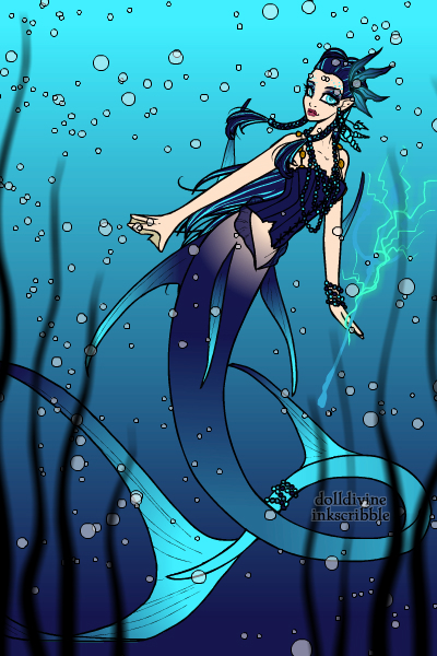 Blue Marlin Mermaid by SweetteeStanley18