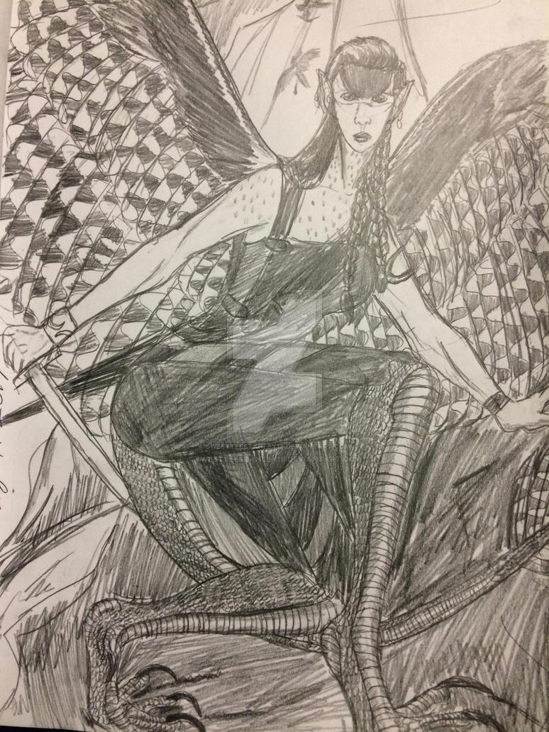 Peregrine Falcon Harpy by SweetteeStanley18