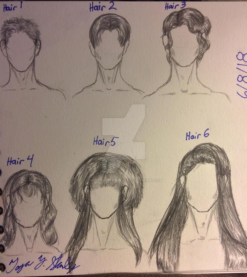 Drawing Hair IV by SweetteeStanley18