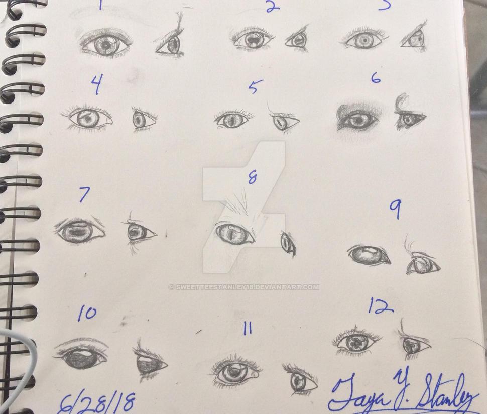 Drawing Eyes by SweetteeStanley18