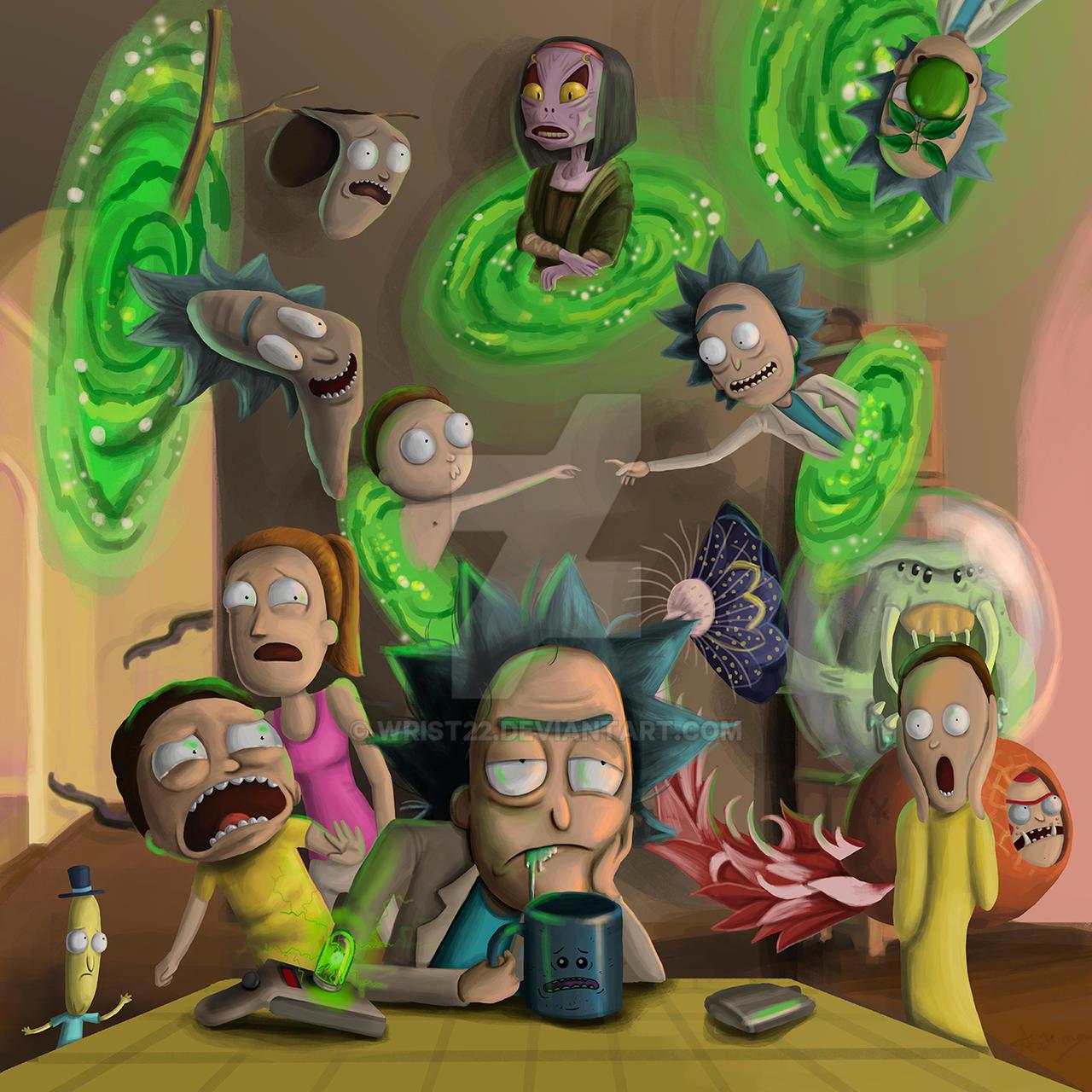 Rick Morty Fan Art