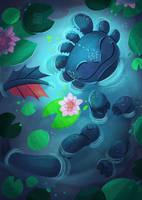 Lily pond by Seanica
