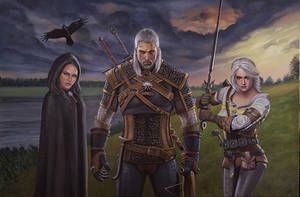 The Witcher by ChristineMarieArt