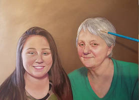 Mom and Niece portrait WIP (cropped)