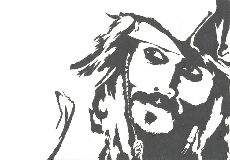 Jack Sparrow Stencil by MaxFct on DeviantArt