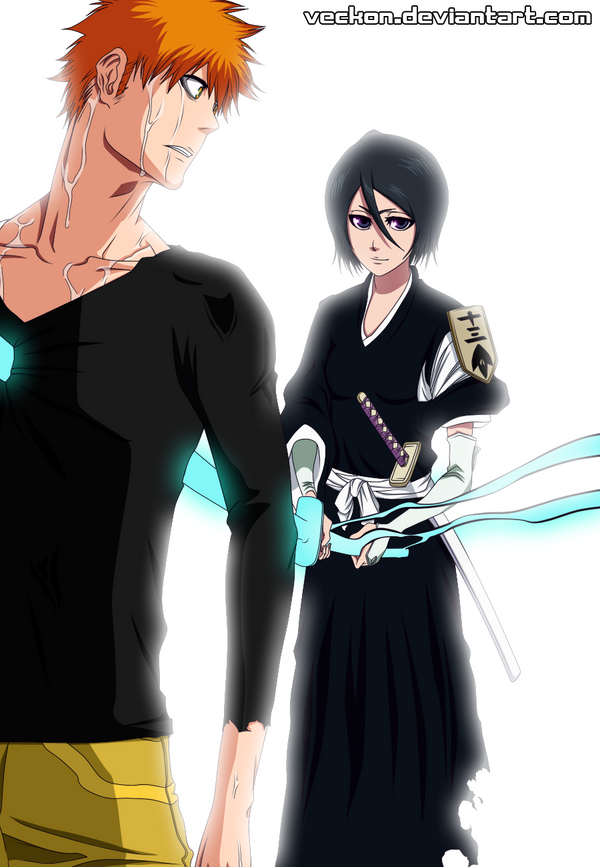 Ichigo x Rukia by veckon on DeviantArt