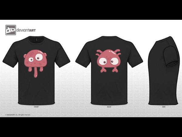 Cute jelly monster T - Shirt by Lukutea