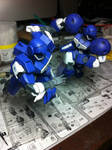 HG 1/144 Team Woolf unit 1 and 2