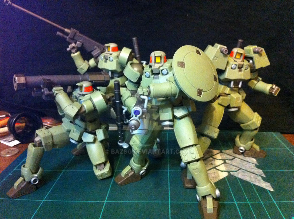 1/144 scale Leo custom from Gundam Wing by BazSg