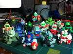 My Gundam Gashapon Grunts collection