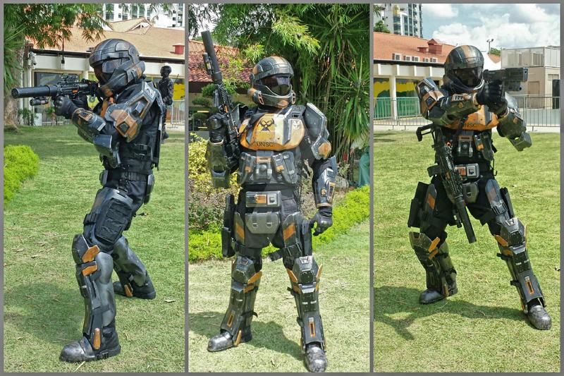 HALO ODST 'Breaker', 405th Singapore detachment by BazSg