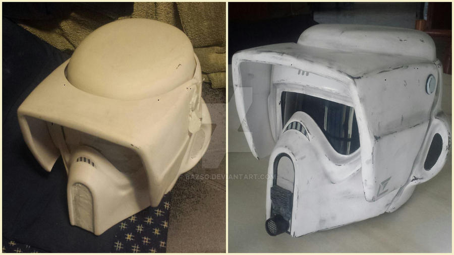 1/1 Scale Star Wars Biker Scout Trooper Helmet by BazSg