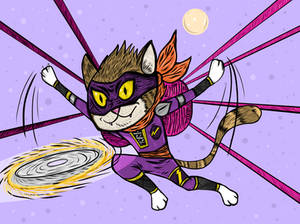 Ninja Cat - Pawjutsu Style