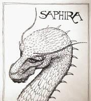 Saphira from Eragon - Inktober Day 3