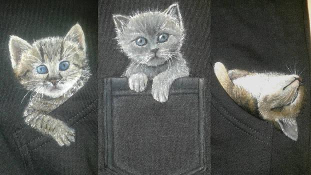Three Kittens on a hoodie