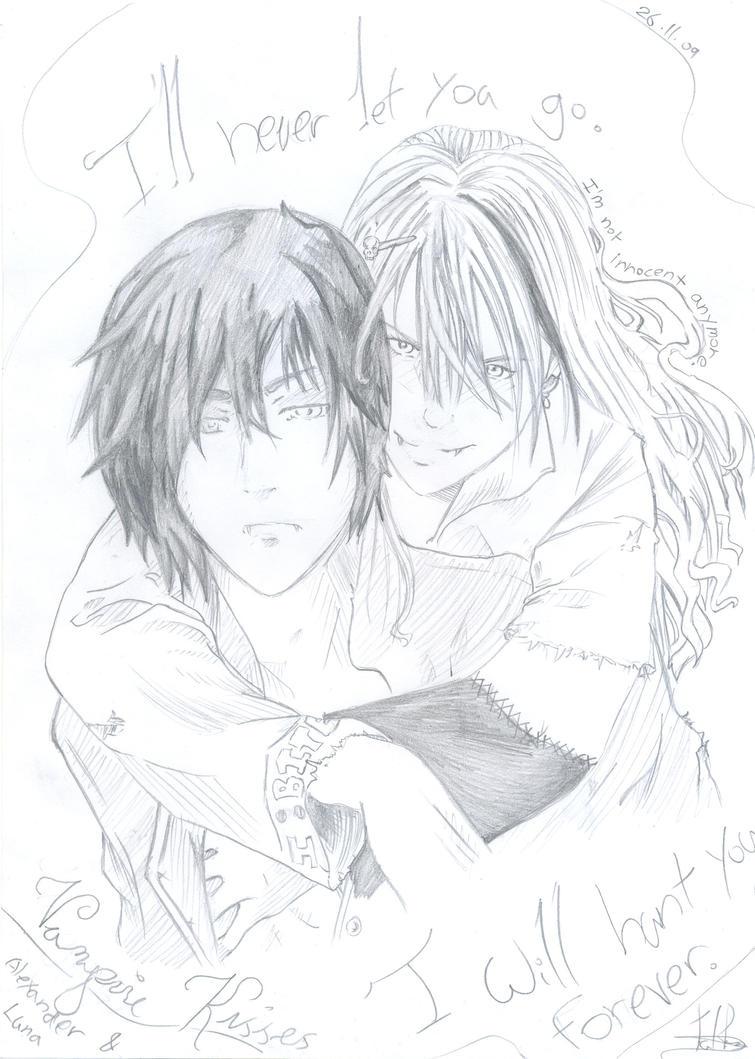 Vampire kisses luna