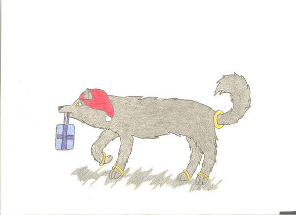Christmas Dog Or Wolf by hinata4590