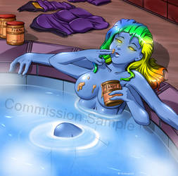 Commission - Darsion at pool by HitmanN