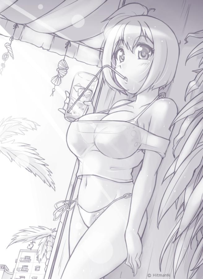Sketch - Drinking Bikini MiSha by HitmanN