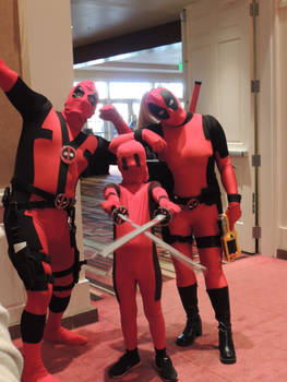 Deadpool Family of Comic Con 2014